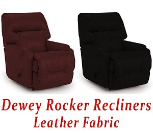 Dewey Rocker Recliner in Leather