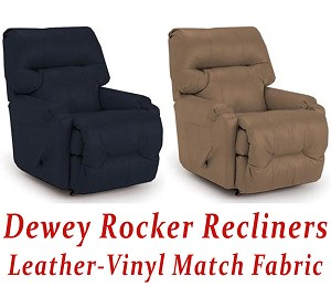 Dewey Rocker Recliner in Leather-Vinyl Match