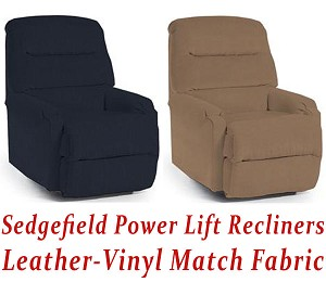 Sedgefield Power Lift Recliner in Leather-Vinyl Match