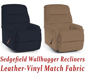 Sedgefield Wallhugger Recliner in Leather-Vinyl Match