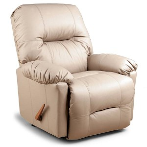 Wynette Swivel Glider Recliner in Leather-Vinyl Match