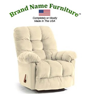 Off White Leather Recliner Bonded Wallhugger