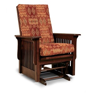 Texiana Glider Rocker in Leather