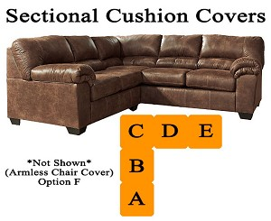 Ashley® Bladen Sectional replacement cushion and cover, 12000