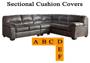 Ashley® Bladen Sectional replacement cushion and cover, 12001
