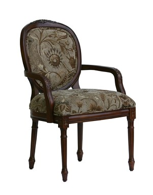 Belmont Traditional Oval Back Accent Chair