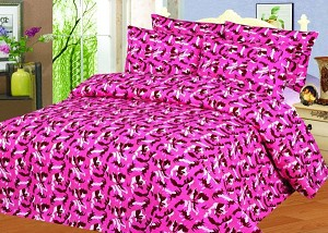 Twin Pink Military Camouflage Print Sheet Set