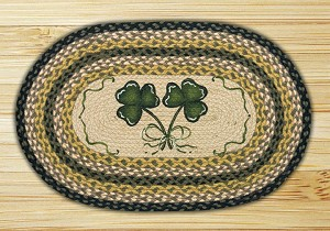 Oval Patch Shamrock Braided Earth Rug®