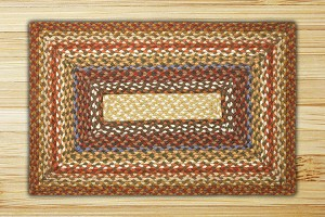 Rectangle Honey Vanilla and Ginger Jute Braided Earth Rug®