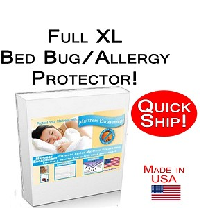 Quick Ship! Full XL Size Allergy and Bed Bug Protection Bed Encasement