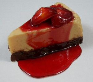 Fake Food Strawberry Cheesecake - No Plate
