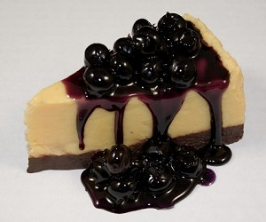 Fake Food Blueberry Cheesecake No Plate