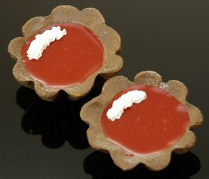 Fake Food Chocolate Raspberry Tartlets (pack of 2)