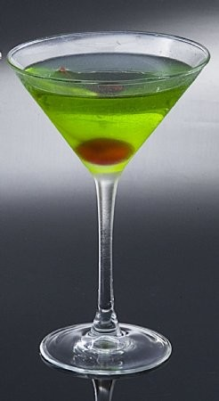 Fake Food Green Apple Martini Frosted