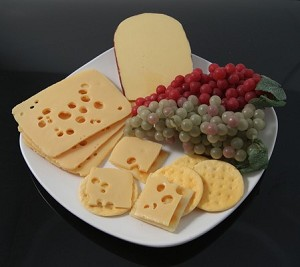 Fake Food Deluxe Cheese & Grapes Platter