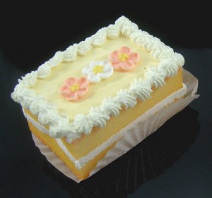Fake Food Mini Cake Yellow - One Piece