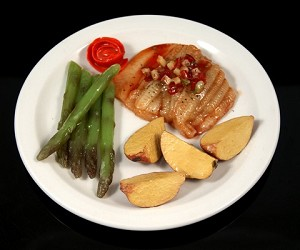 Fake Food Fillet Of Sole Oreganata Dinner Plate