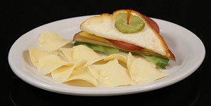 Fake Food Half Sandwich With Chips