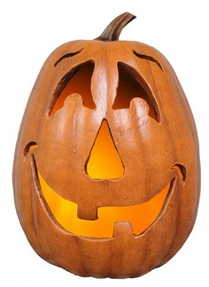 Fake Food Jack-o'-lantern Happy Face Pumpkin