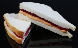 Fake Food Peanut Butter & Jelly Sandwich