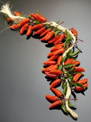Fake Food Chili Pepper Garland