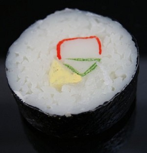 Fake Food Deluxe Jumbo California Roll Sushi - One Piece