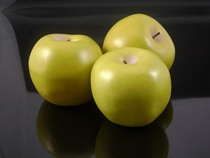 Fake Food Granny Smith Green Apples (bag of 3)