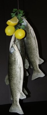 Fake Food 4-piece Trout Fish Garland