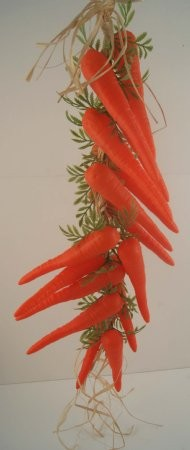 Fake Food Carrot Garland
