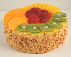 Fake Food Fruit Cheesecake