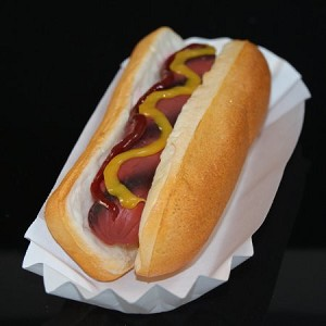 Fake Food Hot Dog On Bun