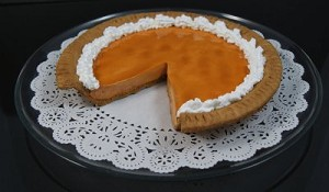 Fake Food Pumpkin Pie Slice Out