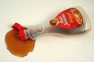Fake Food Maple Syrup Bottle Spill