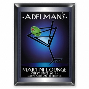 "Personalized ""After Hours"" Martini Lounge Sign"