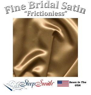 Satin Duvet Cover Cot Size Bronze Color