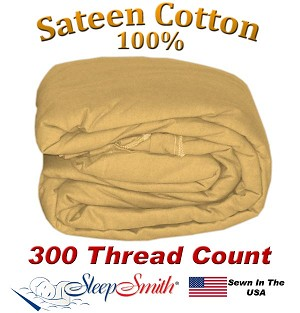 Sateen Duvet Cover XL Full Size Carmel Color