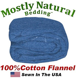 Flannel Duvet Cover Twin Size Denim Color