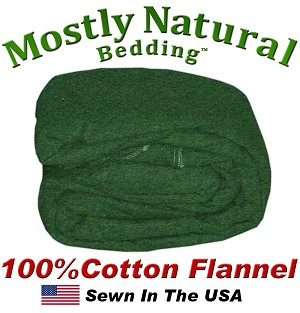 Flannel Duvet Cover Double Bed Size Hunter Green Color