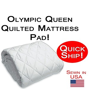 Quick Ship! Olympic Queen Size Quilted Mattress Pad