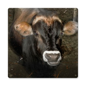 Cow Face Vintage Metal Sign