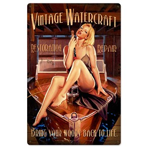 Vintage Watercraft Vintage Metal Sign