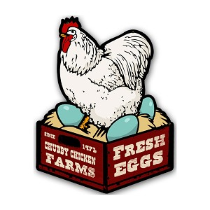 Chicken Fresh Eggs Vintage Metal Sign