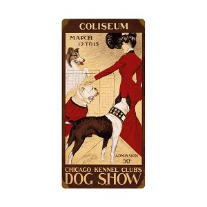 Chicago Dog Show Vintage Metal Sign