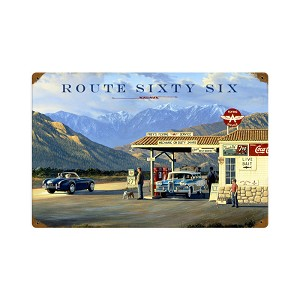 Route 66 Vintage Metal Sign
