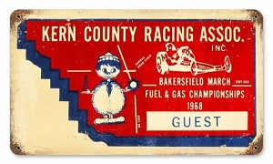 Kern County Ticket Vintage Metal Sign