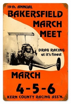 Bakersfield 19th March Meet Vintage Metal Sign