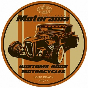 Kustom Rods Motorcycles Metal Sign