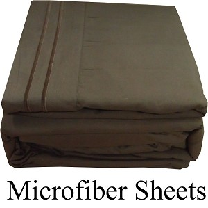 Dark Brown Color, Microfiber Sheets, Full Size,  Deep Pocket
