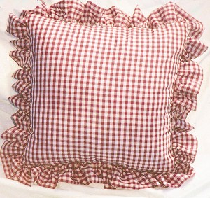 Gingham Ruffled Throw Pillows Set of 2