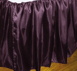 Olympic Queen Eggplant Satin Dustruffle Bedskirt
